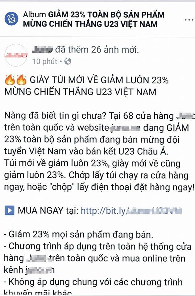 Hang quan dua nhau giam gia, nhan vien nghi lam co vu tran ban ket U23 Viet Nam - U23 Qatar hinh anh 2