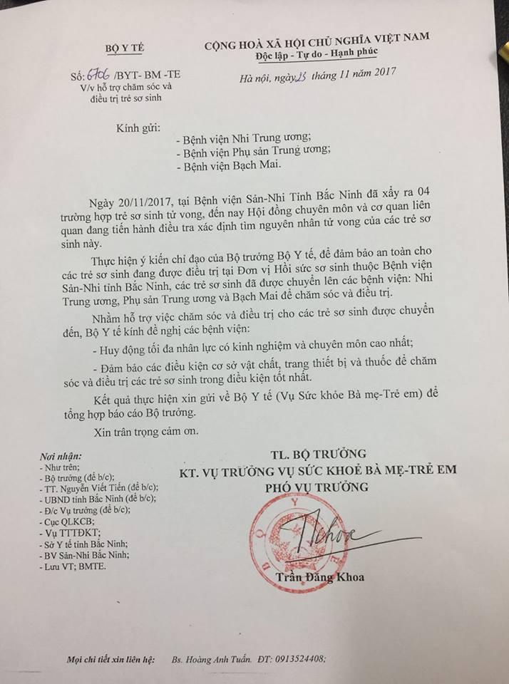 Chuyen toan bo benh nhi tai San Nhi Bac Ninh len benh vien tuyen Trung uong dieu tri hinh anh 1