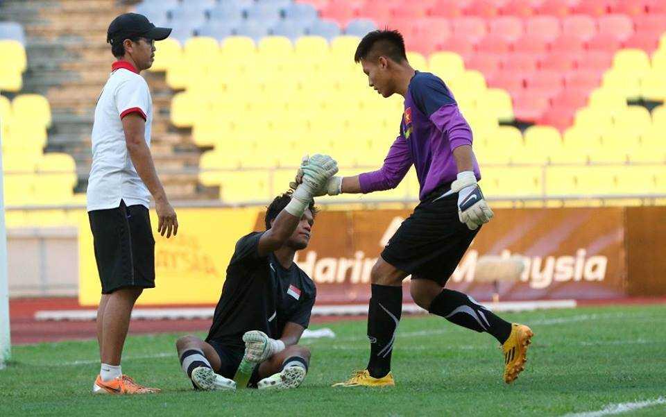 Chum anh: U21 Viet Nam thang kich tinh U21 Singpore hinh anh 20
