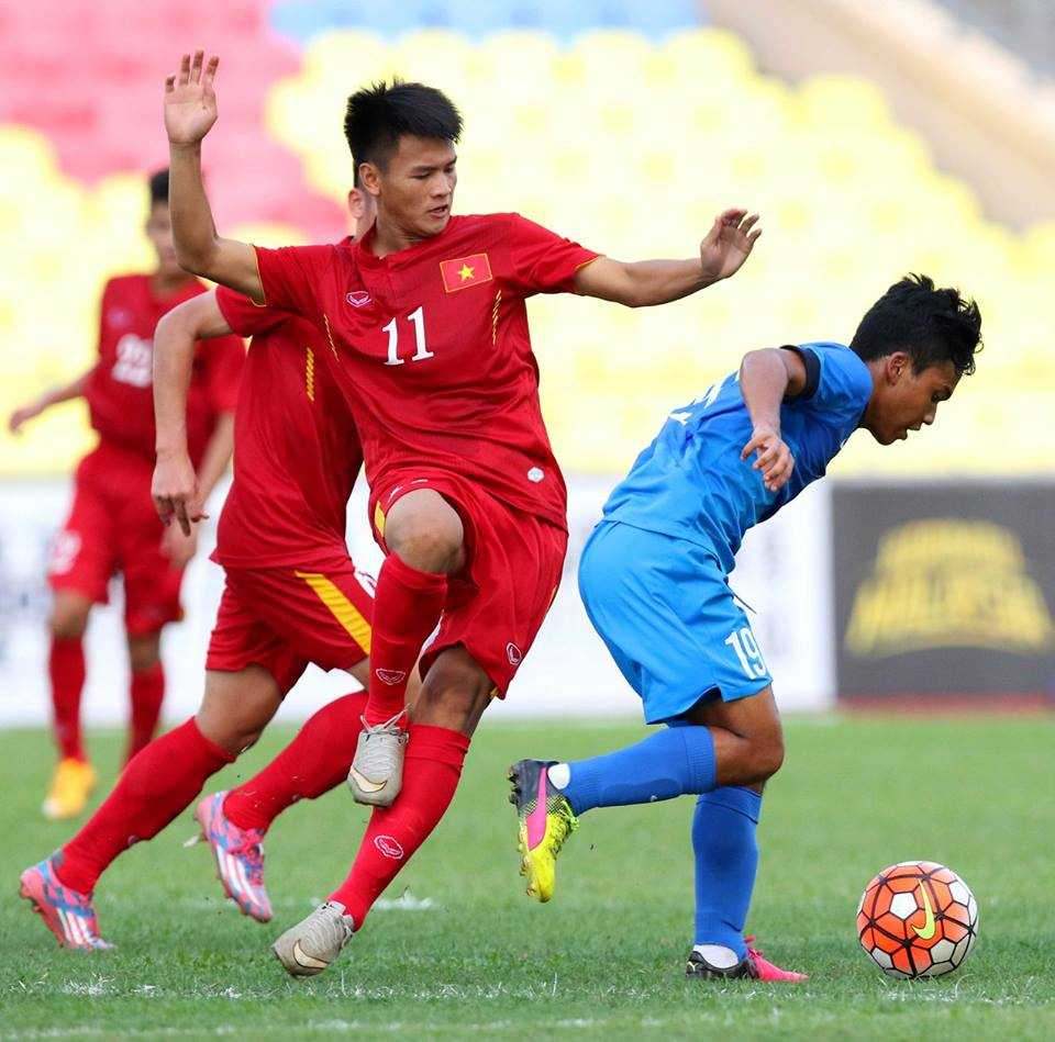 Chum anh: U21 Viet Nam thang kich tinh U21 Singpore hinh anh 13