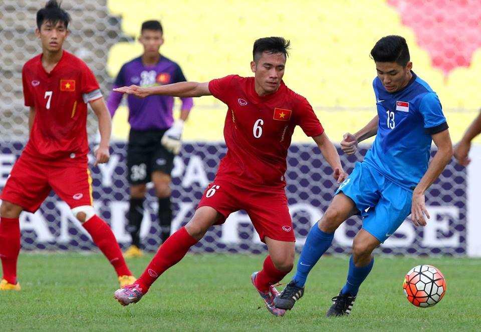 Chum anh: U21 Viet Nam thang kich tinh U21 Singpore hinh anh 1