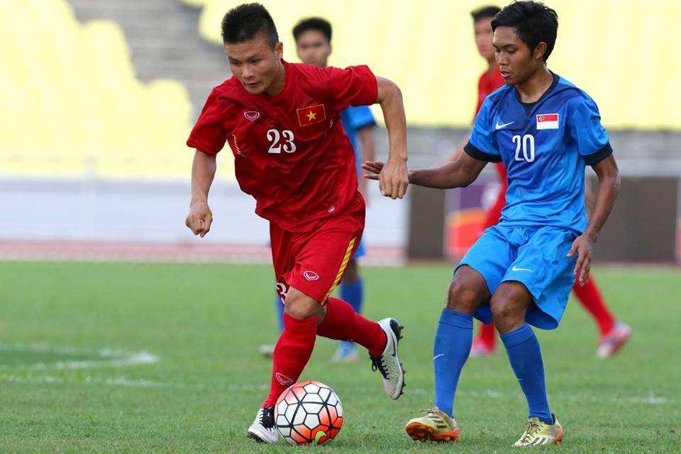 Chum anh: U21 Viet Nam thang kich tinh U21 Singpore hinh anh 2