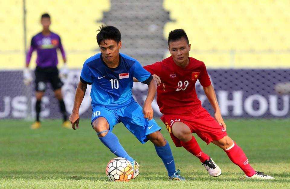 Chum anh: U21 Viet Nam thang kich tinh U21 Singpore hinh anh 7