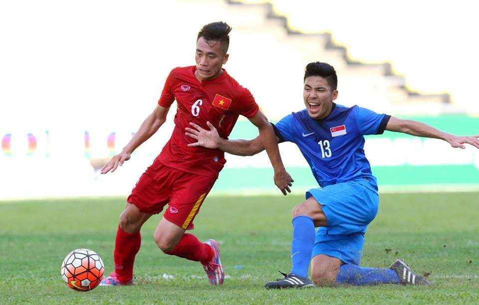 Chum anh: U21 Viet Nam thang kich tinh U21 Singpore hinh anh 10