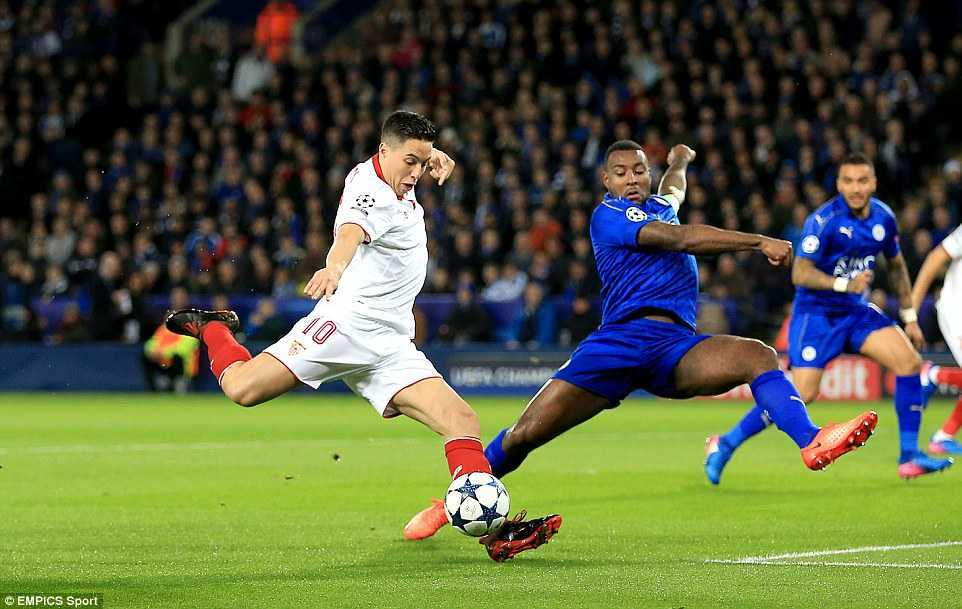 Ket qua Champions League: Danh bai Sevilla, Leicester City lam nen phep mau hinh anh 1