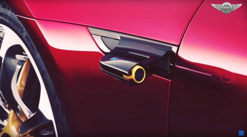 Xe Mercedes-AMG GT khong duoc trang bi he thong guong chieu hau? hinh anh 3