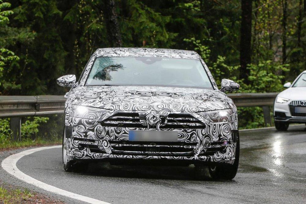 Bat ngo lo anh Audi A8 2018 voi 'tuyet chieu' do xe tu dong truoc ngay ra mat hinh anh 2