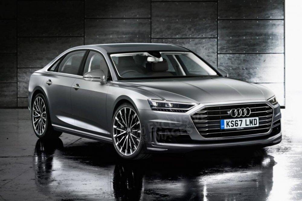Bat ngo lo anh Audi A8 2018 voi 'tuyet chieu' do xe tu dong truoc ngay ra mat hinh anh 1