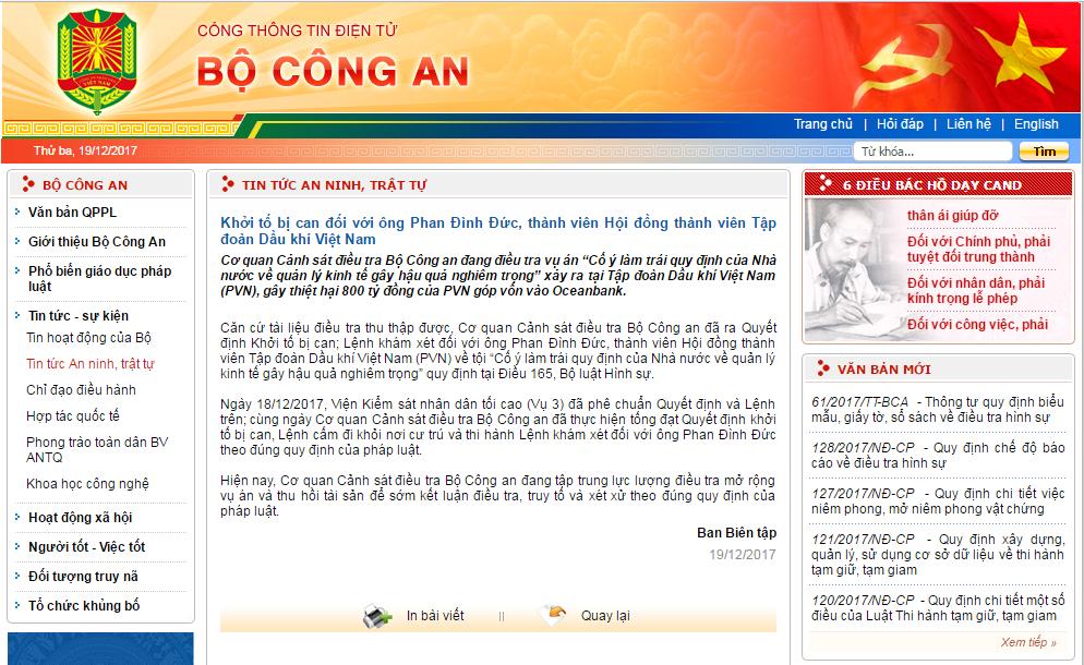 Khoi to ong Phan Dinh Duc, thanh vien Hoi dong thanh vien PVN hinh anh 1