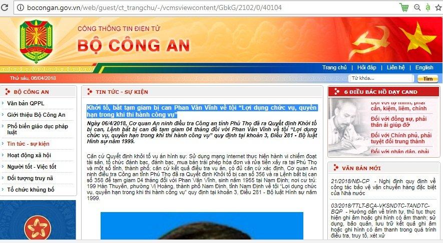 Tam giam 4 thang cuu trung tuong Phan Van Vinh hinh anh 1