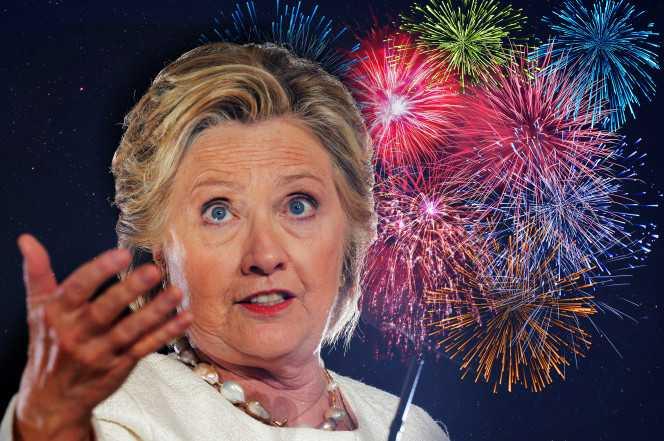 Vi sao Hillary Clinton huy ban phao hoa mung chien thang? hinh anh 1