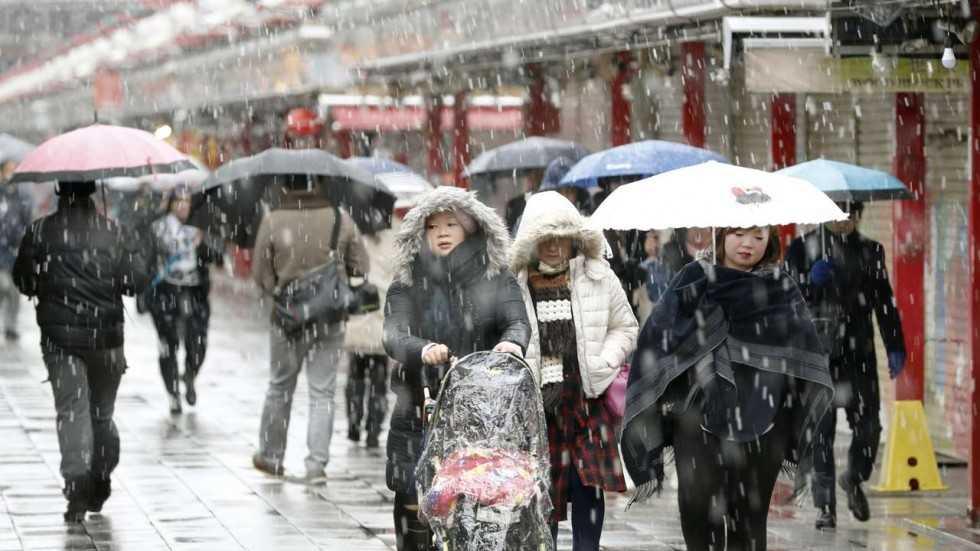 Nhat Ban: Tuyet roi trong mua thu, hiem gap trong 54 nam nay hinh anh 1
