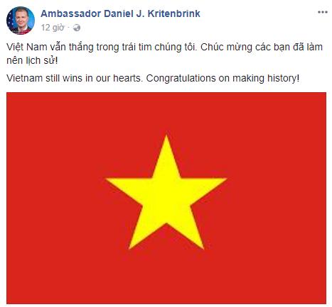 Dai su My chuc mung Viet Nam lam nen thanh tich lich su du de tuot chuc vo dich hinh anh 1