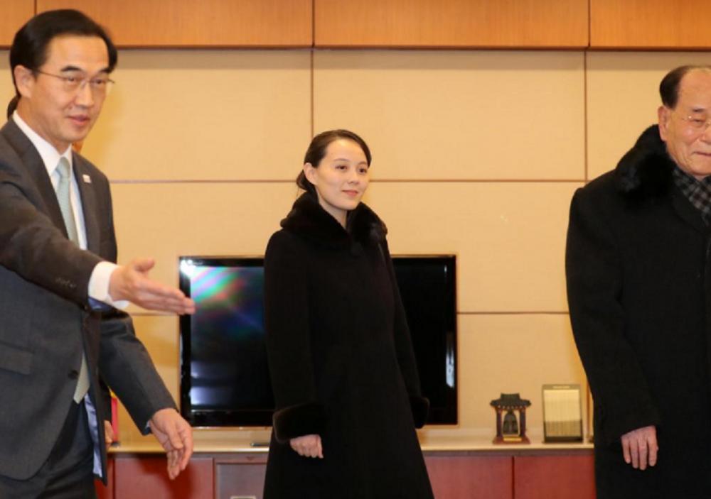Video, anh: Nhan sac rang ngoi cua em gai ong Kim Jong-un o Han Quoc hinh anh 4