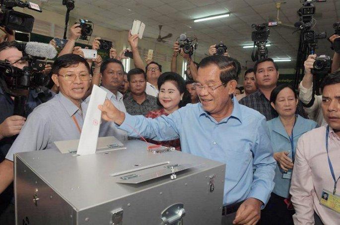 Viet Nam chuc mung Campuchia sau ky bau cu Quoc hoi thanh cong hinh anh 1