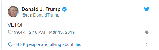 Bi chinh cac thuong nghi sy Cong hoa quay lung, Tong thong Trump canh bao danh thep hinh anh 1