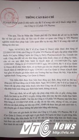 VN Pharma nhap thuoc ung thu gia: Ho so bi lam gia, Bo Y te noi 'khong the phat hien bang mat thuong' hinh anh 1