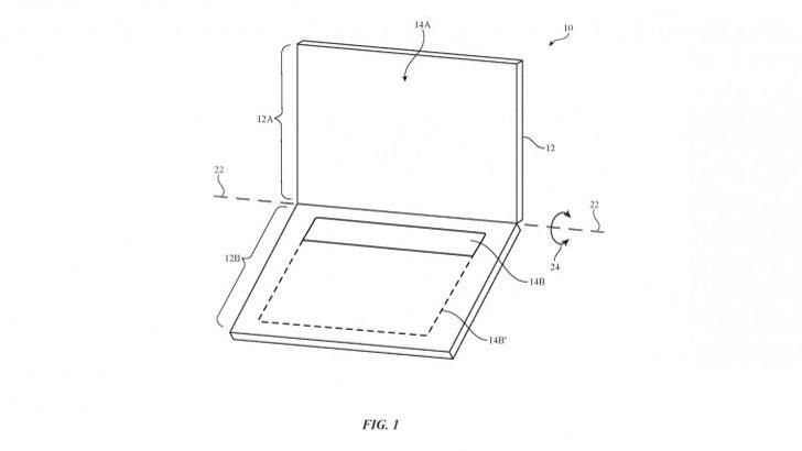 Apple dang ky sang che laptop man hinh kep, chi dung phim ao hinh anh 1