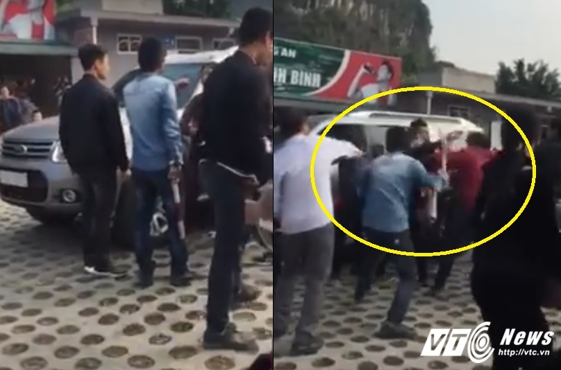 Video: Bao ve danh thang Trang An dung dui cui danh du khach ngat xiu hinh anh 1