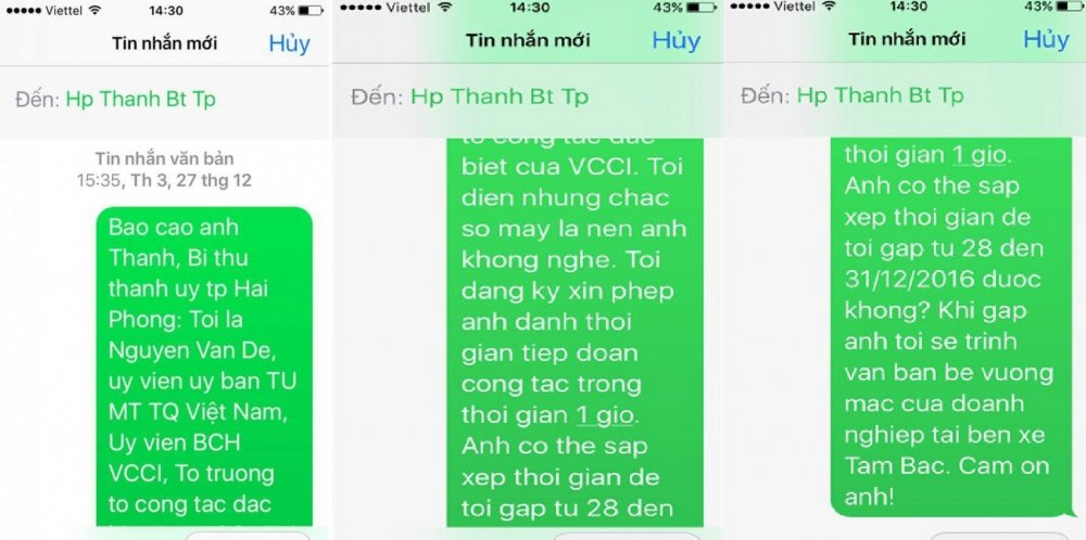 Bau De tiet lo tin nhan cho Bi thu Hai Phong vu doanh nghiep bi 'lat keo' hinh anh 3