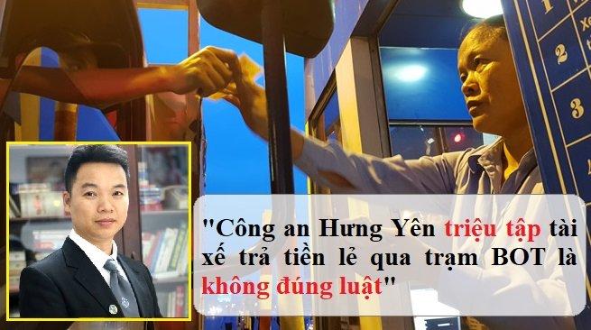 Cong an Hung Yen trieu tap tai xe tra tien le qua tram BOT la khong dung luat hinh anh 1