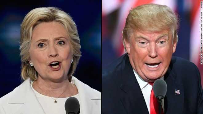Bau cu Tong thong My: Ba Hillary cong kich ong Trump du doi nhat tu truoc den nay hinh anh 1