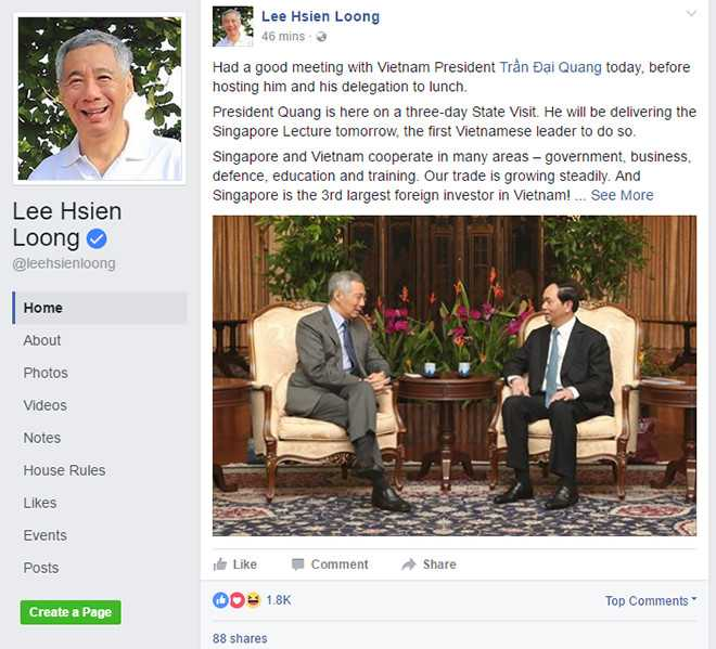Ong Ly Hien Long khoe anh chup cung Chu tich nuoc Tran Dai Quang len facebook hinh anh 2