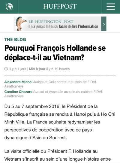 Bao chi Phap ca ngoi chuyen tham Viet Nam cua Tong thong Hollande hinh anh 3