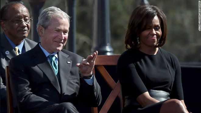 Tinh ban dac biet cua Michelle Obama va cuu Tong thong Bush hinh anh 2