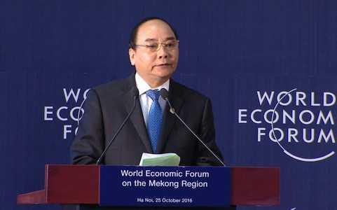 Thu tuong Nguyen Xuan Phuc len duong du Hoi nghi thuong nien WEF hinh anh 1