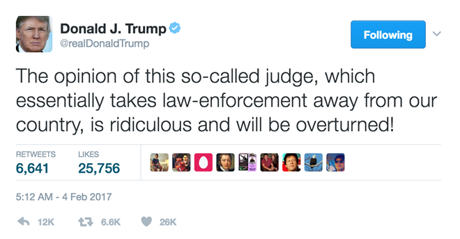 Ong Trump the phuc hoi sac lenh bi tham phan chan dung hinh anh 1