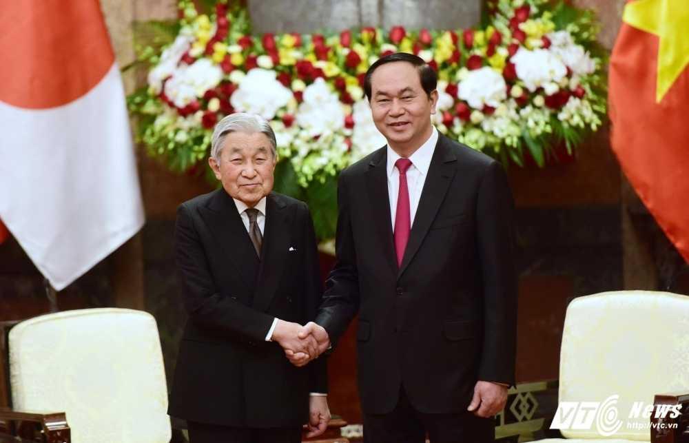 Chu tich nuoc Tran Dai Quang hoi kien Nha vua va Hoang hau Nhat Ban hinh anh 1