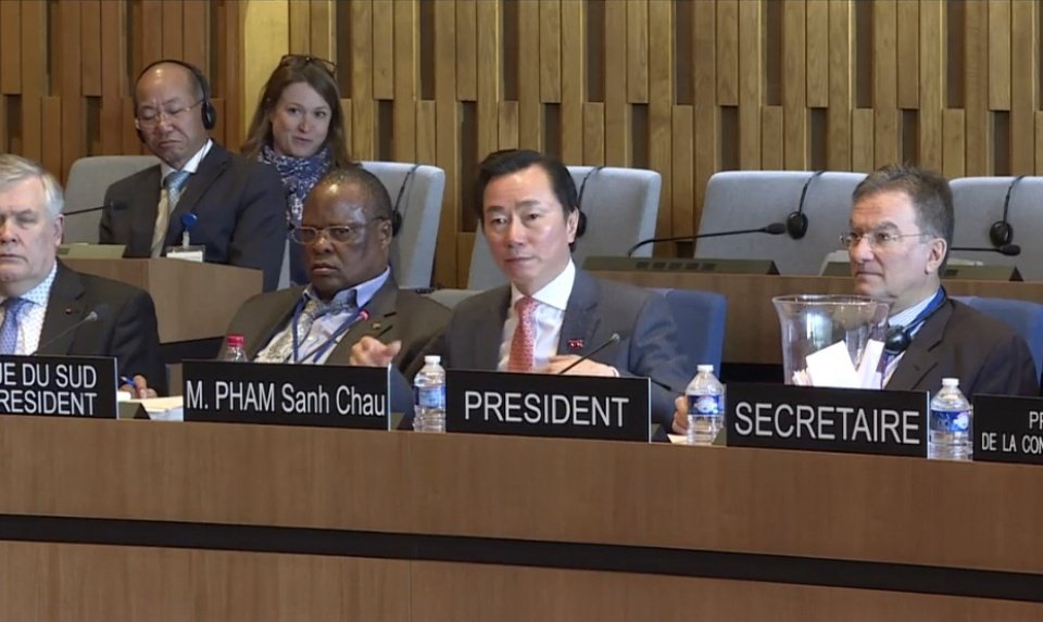 Dai su Pham Sanh Chau tra loi phong van cho vi tri Tong Giam doc UNESCO hinh anh 8