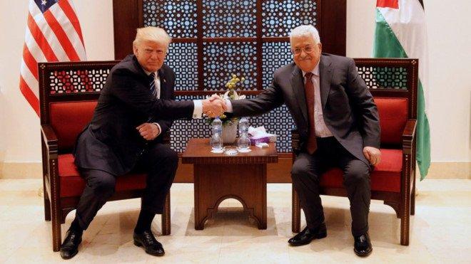Tong thong Trump gap lanh dao Palestine, tim kiem hoa binh hinh anh 1