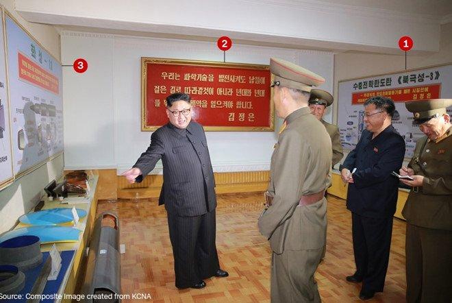 Trieu Tien vo tinh lo thong tin ten lua dan dao moi trong anh chup ong Kim Jong-un hinh anh 1