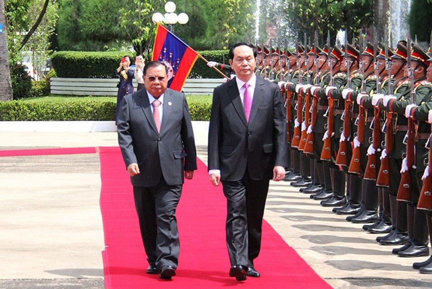 Chu tich nuoc Tran Dai Quang tra loi phong van nhan ky niem 55 nam quan he Viet - Lao hinh anh 2