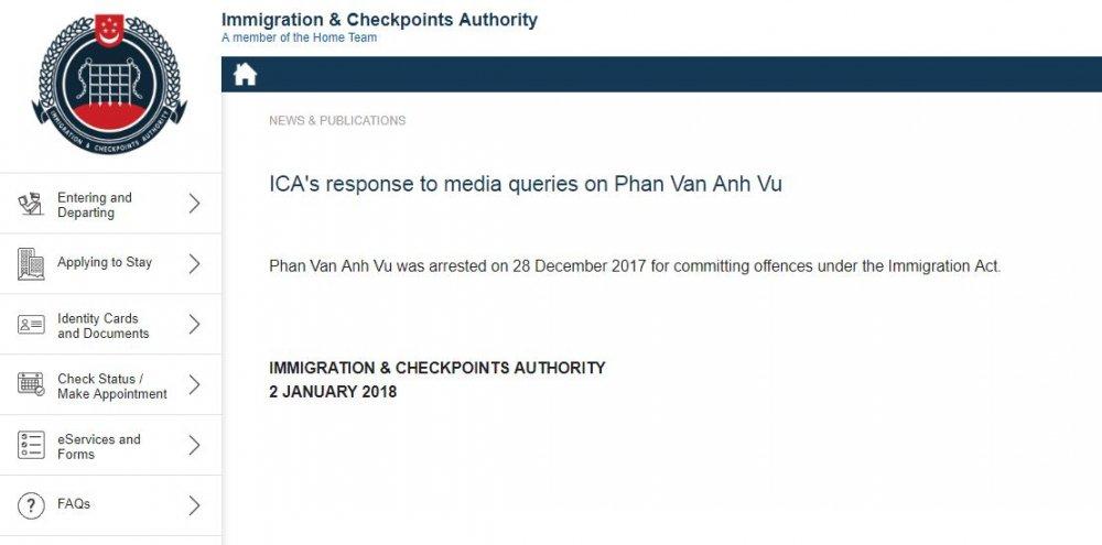 Singapore tam giu ong Phan Van Anh Vu hinh anh 1