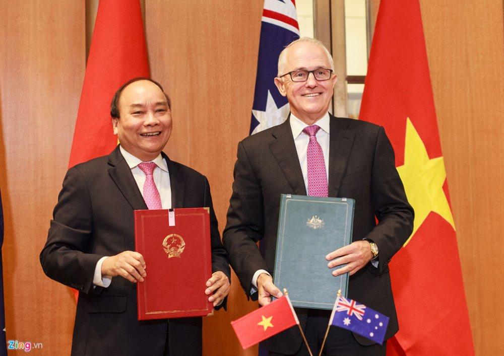 Thu tuong Viet Nam - Australia ky tuyen bo doi tac chien luoc lich su hinh anh 1