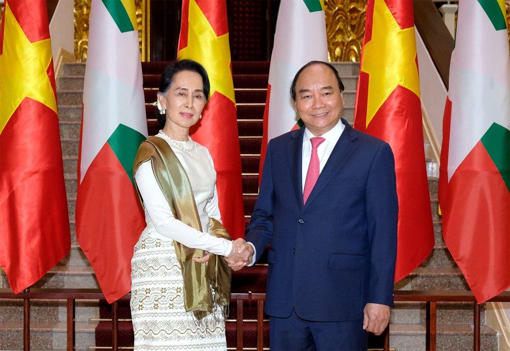 Thu tuong hoi dam voi Co van Nha nuoc Myanmar hinh anh 1