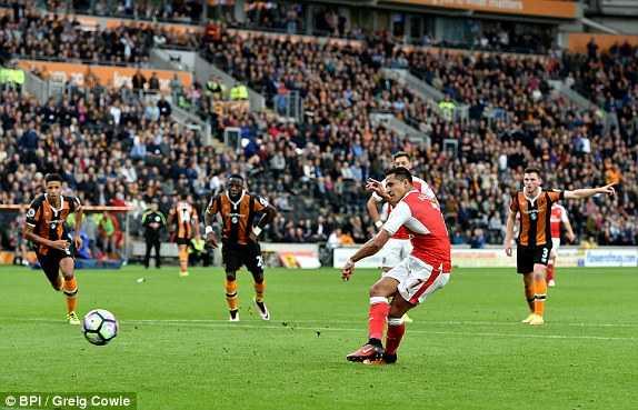 Arsenal da thanh thoi, thang de Hull City hinh anh 1