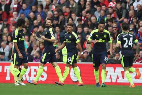 Giroud tro lai, trong hinh hai 'vi than' cua Arsenal hinh anh 1