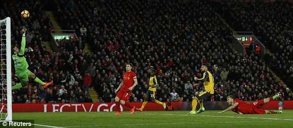 Truc tiep Liverpool vs Arsenal : Arsenal nhan trai dang som hinh anh 2