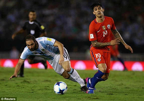 Link xem truc tiep Argentina vs Chile vong loai World Cup 2018 hinh anh 1