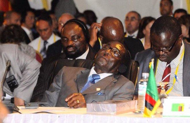 Tong thong 93 tuoi cua Zimbabwe giai thich chuyen 'de mat nghi ngoi' trong gio hop hinh anh 1