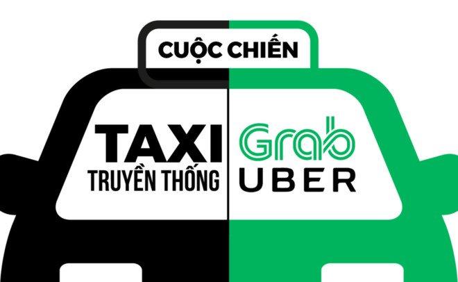 Cuoc chien taxi vs Uber, Grab: Bo Cong Thuong, Giao thong noi gi? hinh anh 1