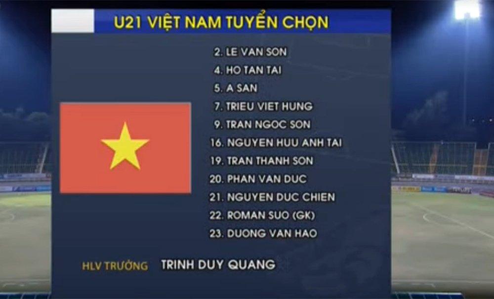 Video truc tiep U21 Viet Nam vs U19 Viet Nam giai U21 Quoc te 2017 hinh anh 6