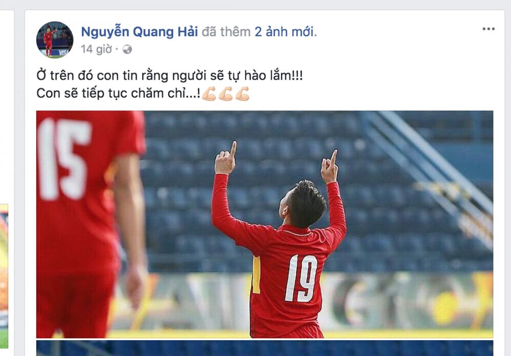 Xuc dong hinh anh Quang Hai gui tang ban thang cho nguoi cha nuoi qua co hinh anh 1
