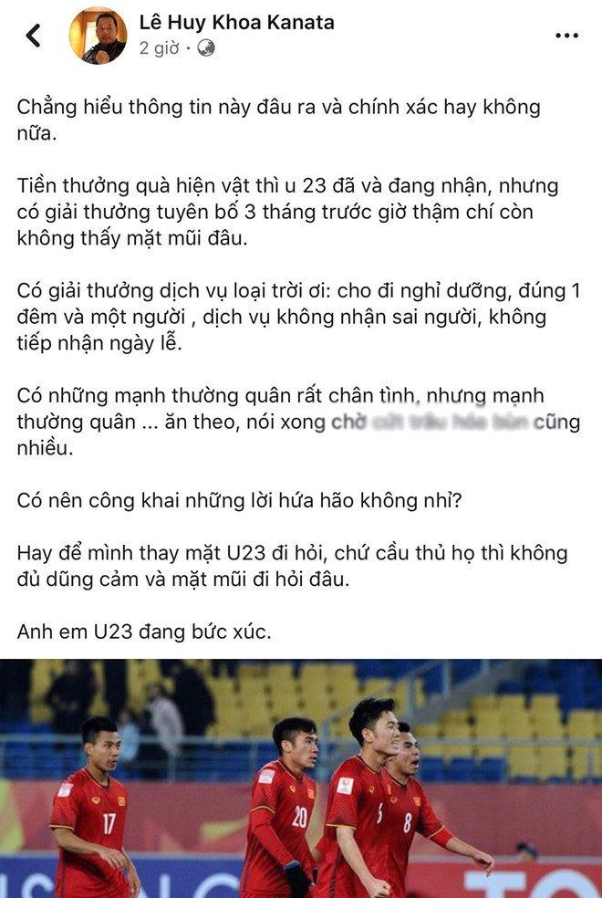 VFF khang dinh doanh nghiep khong 'xu' tien thuong U23 Viet Nam hinh anh 2