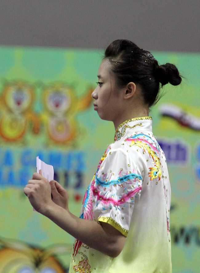 Dương Thúy Vi giành HCV Thế giới hồi tháng 9 tại Malaysia nội dung Thương thuật.