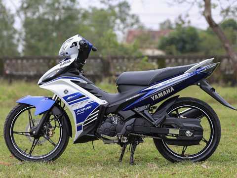 Yamaha Exciter GP 2013 chỉ thay tem và giữ nguyên kiểu dáng cùng công nghệ. Ảnh Tuấn Trung Tá